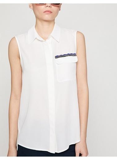 Koton Kısa Kollu Gömlek Beyaz